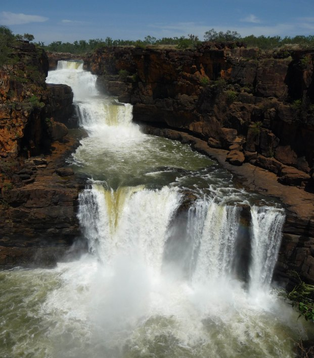 Mitchell Falls in flood, Kimberley 2011